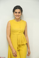 Taapsee Pannu looks mesmerizing in Yellow for her Telugu Movie Anando hma motion poster launch ~  Exclusive 094.JPG