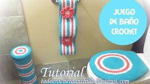 Tutorial Juego de Baño Crochet para Principiantes