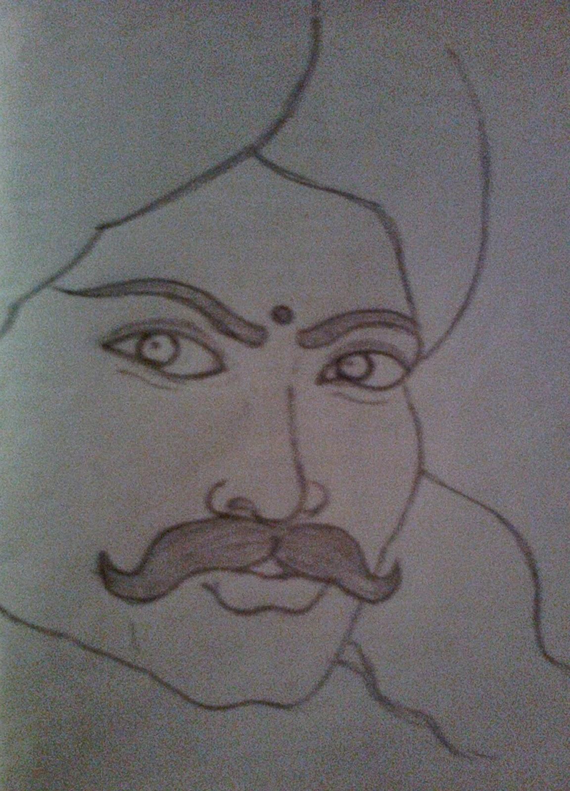 Sivasankaran's Pencil Sketch Blog: Bharathiyar - Social ...