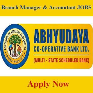 Abhyudaya Co-operative Bank Ltd., Abhyudaya Bank, Bank, Graduation, Branch Manager, Accountant, freejobalert, Sarkari Naukri, Latest Jobs, abhyudaya bank logo