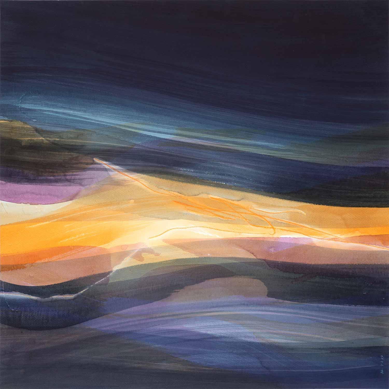 Aquarelle et crayon sur papier, 70 x 70 cm, jan. 19 © Annik Reymond