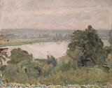 Siene near Vernon by Pierre Bonnard - Landscape Paintings from Hermitage Museum
