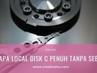Kenapa Local Disk C Penuh tanpa Sebab ini Solusinya