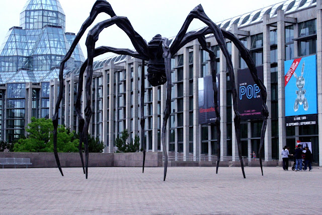 Maman looms over The National Gallery of Canada, Ottawa