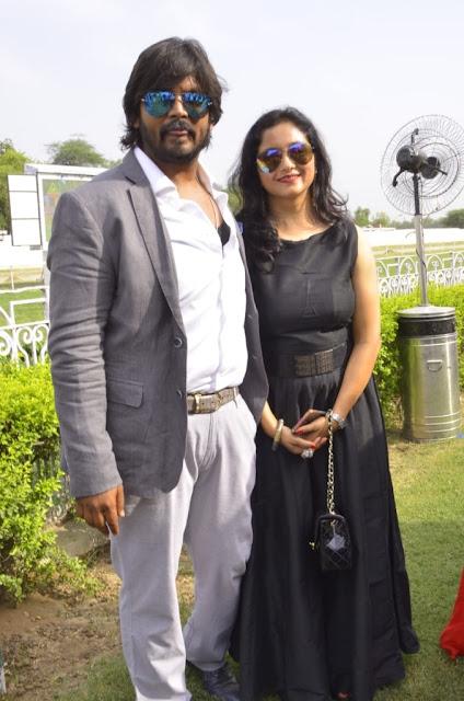 Rohit Gupta with Wife Neha Gupta (Owner of Rolli Stud Farms)