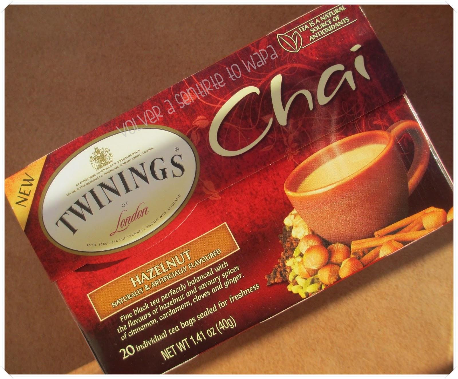 Twinings té chai con avellana de iHerb
