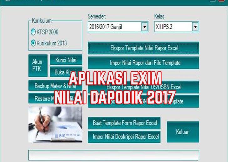Aplikasi Exim Nilai Dapodik, Cara Cepat Input Nilai Raport & USBN Dapodik 2017