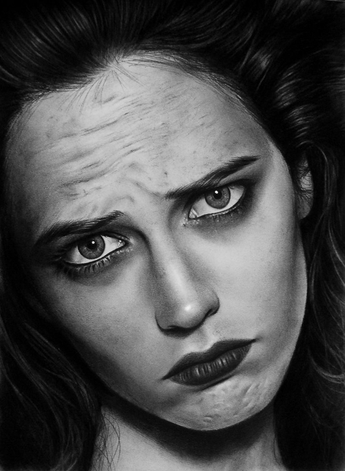05-Eva-Green-Valentina-Zou-Pencils-and-Charcoal-Hyper-Realistic-Drawings-www-designstack-co