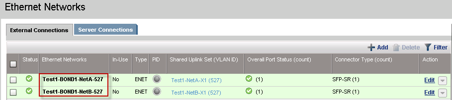 How to configure Shared Uplink Set Network in HP Flex Virtual