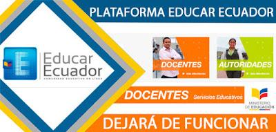 plataforma educar ecuador nueva 2018