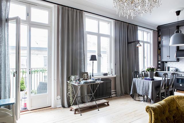 Gri i detalii clasice ntr un apartament de 58 m jurnal for Al saffar interior decoration l l c