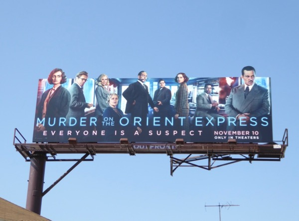 Murder on Orient Express special cut-out billboard