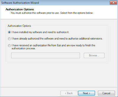 ArcGIS Administrator - Authorization Option I have installed my software and need to authorize it
