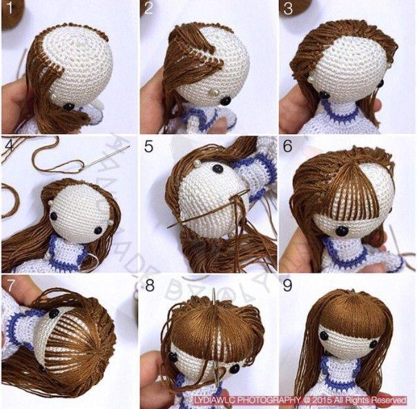 Мастер-класс волосы для куклы