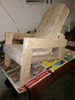 Silla de madera para niños de Minions
