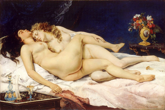 Le Sommeil by Gustave Courbet (1866)