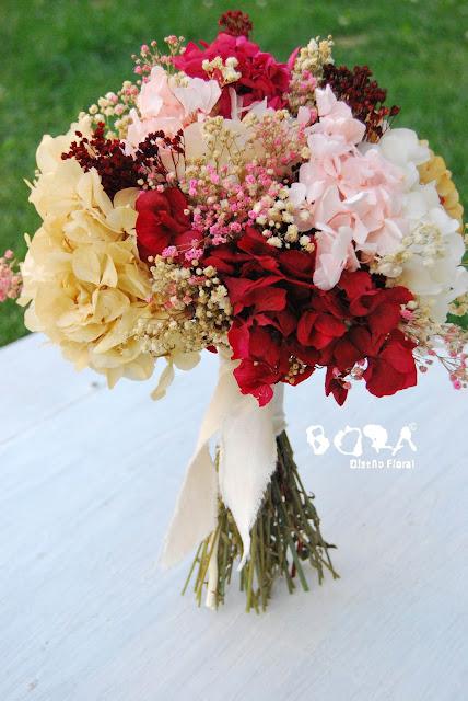 ramo novia flores liofilizadas