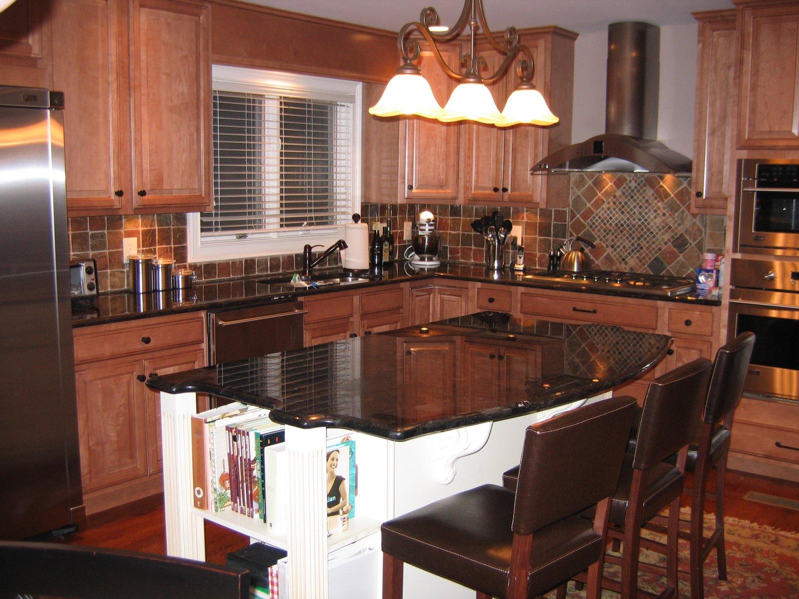 modern style kitchen island picture