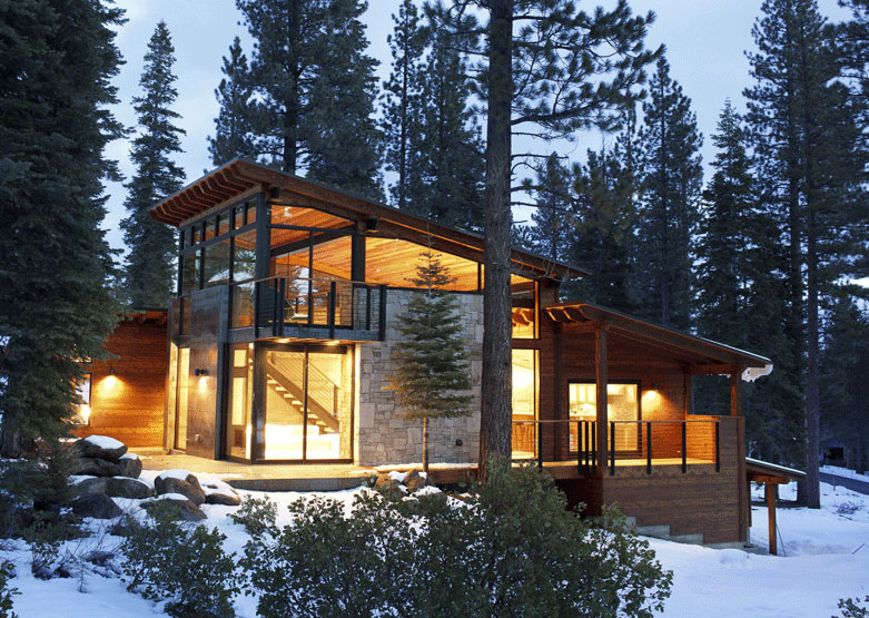 Tiny Home Designs: Marvelous Modern Mountain Home In Truckee, California Is A