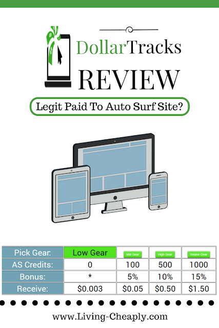 DollarTracks Review - Legit Paid To Auto Surf Site?