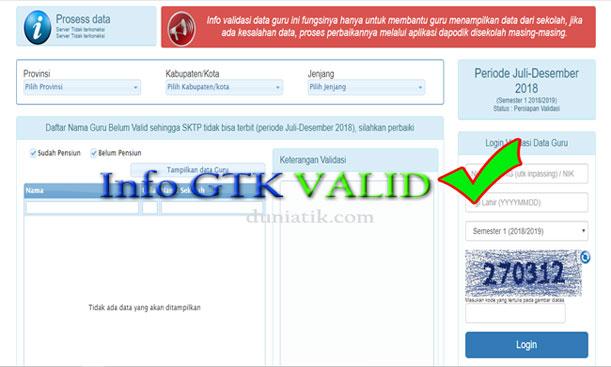 Tips Input Dapodik Agar Status Info GTK Valid