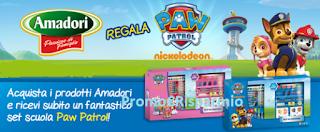 Logo Acquista Amadori e ricevi subito in omaggio il set scuola Paw Patrol