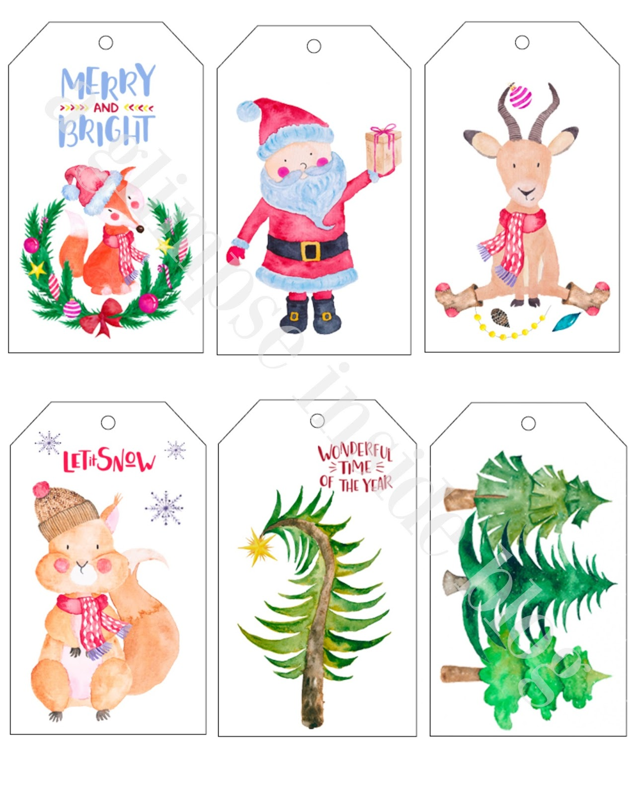 Printable Christmas Gift Tags A Glimpse Inside