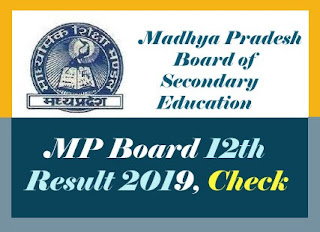 MPBSE 12th Result 2019, MP Board Result 2019 12th Class, MP 12th Result 2019