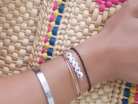 Hella Crafty Friendship Bracelet: Letters + Ball Chain DIY
