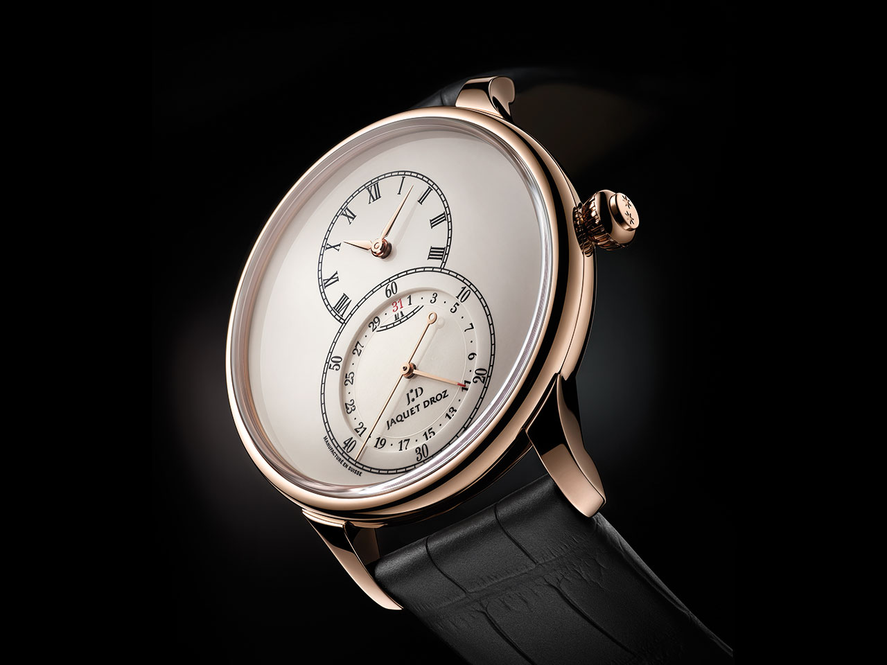 Jaquet Droz Grande Seconde Quantième Ivory Enamel Automatic Watch