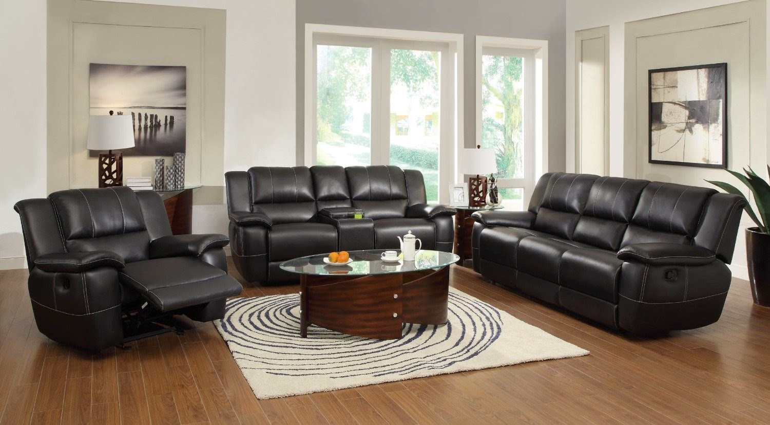 The best reclining sofas ratings reviews cheap faux for Cheap black couch set