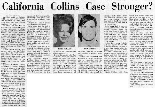 RETRO KIMMER'S BLOG: THE MICHIGAN COED KILLER: JOHN NORMAN COLLINS