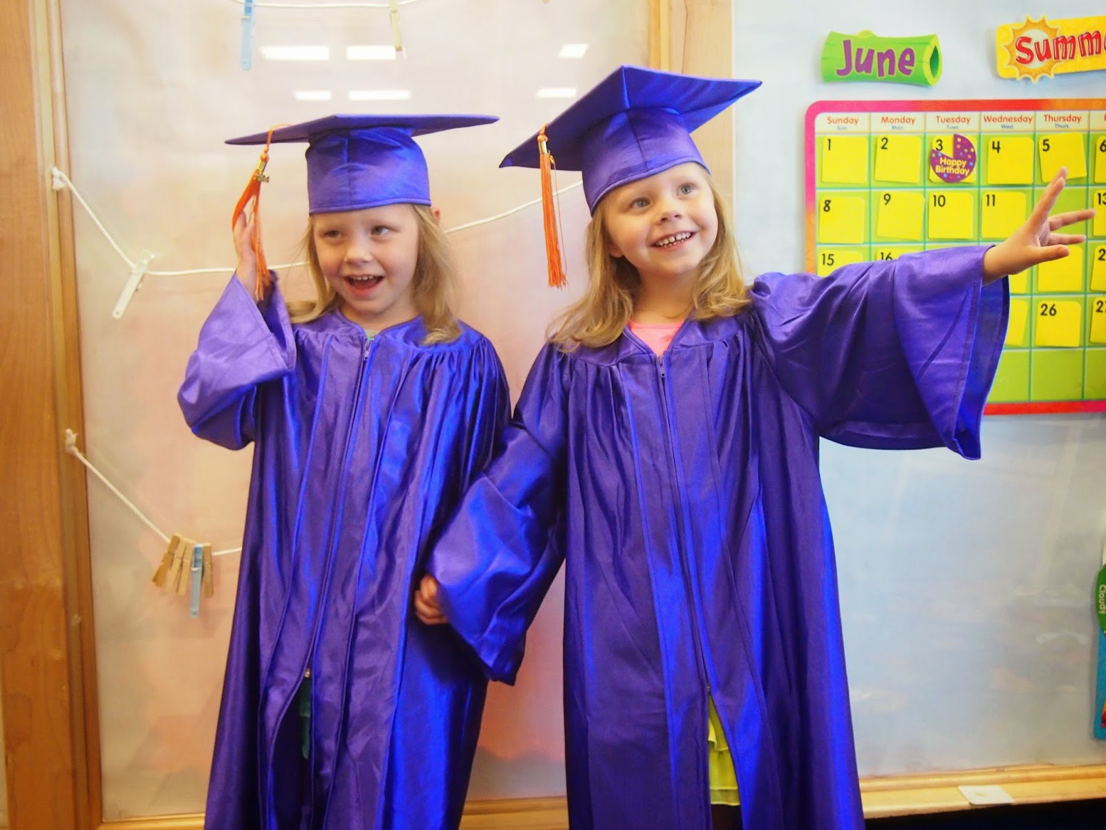 Its Hard To Believe But The Girls Have Graduated Preschool And Are Now In Kindergarten We Not Sure Where Time Has Gone It Flew By