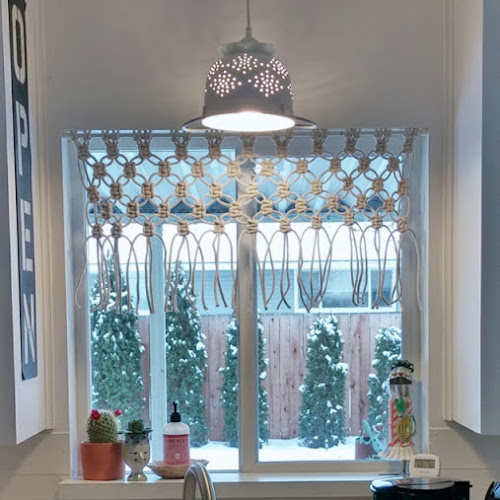 DIY Macrame Kitchen Curtain