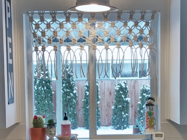 DIY Macrame Kitchen Curtain