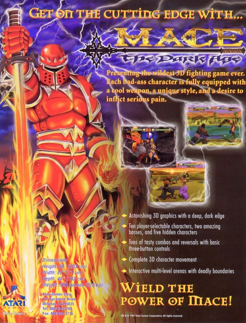 Mace: The Dark Age+arcade+game+portable+art+flyer