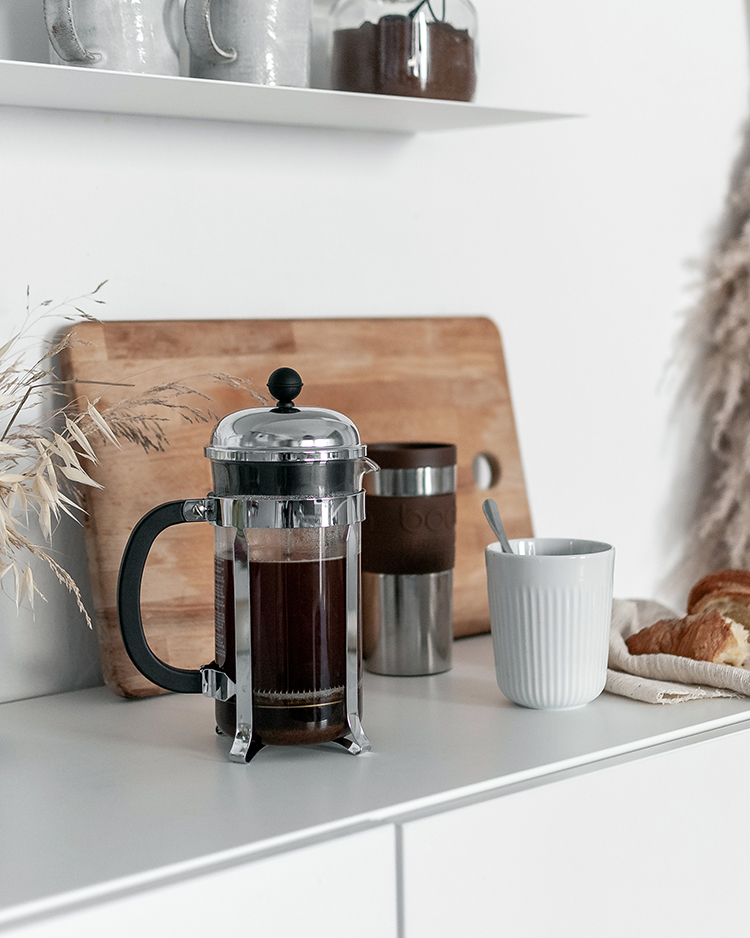 Chambord French press and stainless steel travel mug by Bodum. Styling and photo by Eleni Psyllaki for My Paradissi