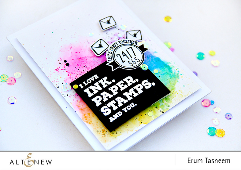 Altenew Crafty Life Stamp Set | Erum Tasneem | @pr0digy0