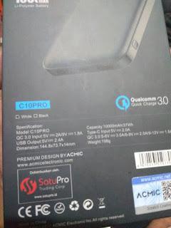 Membandingkan Powerbank Acmic C10 Pro Dengan Xiaomi Mi Powerbank 2 10000 mAh 2