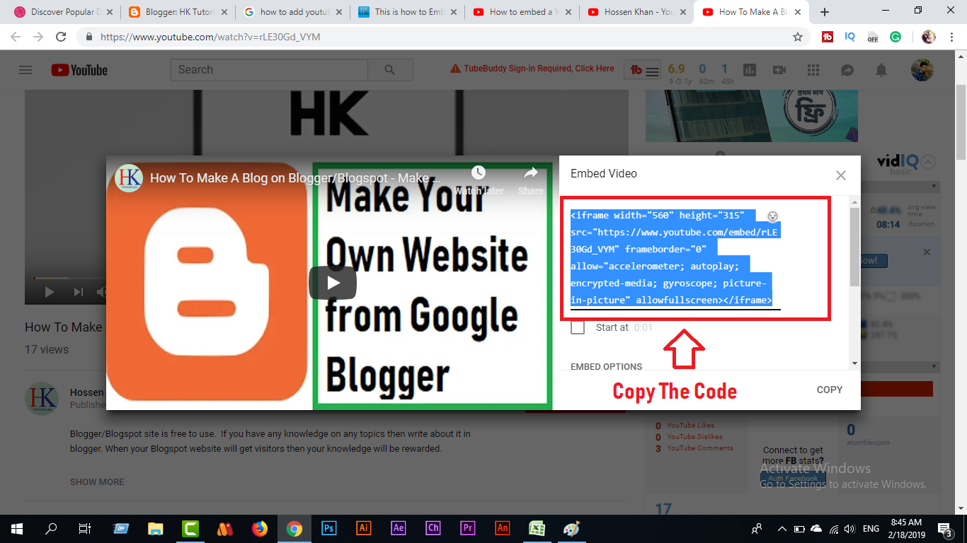 Having Problem Of Adding Full Screen Youtube Video In Blogspot?- You
