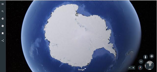 Imagem da Antártida no Google Earth