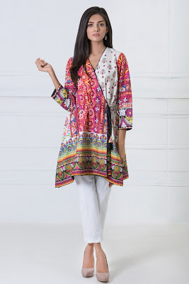 Khaadi Lawn printed kurta dresses for summer
