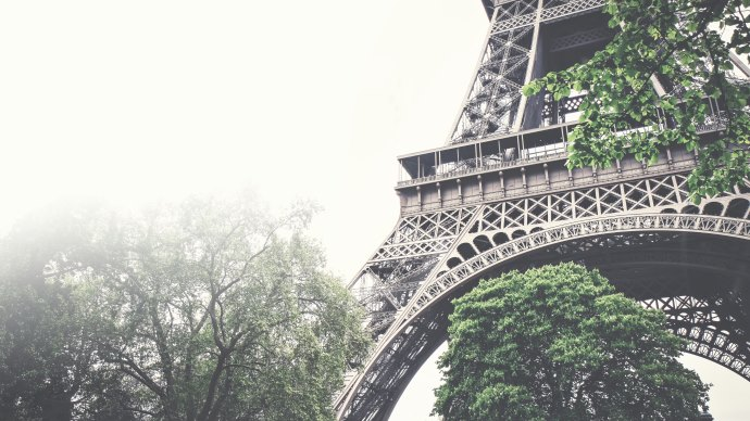 Wallpaper: Tour Eiffel in a Foggy Day