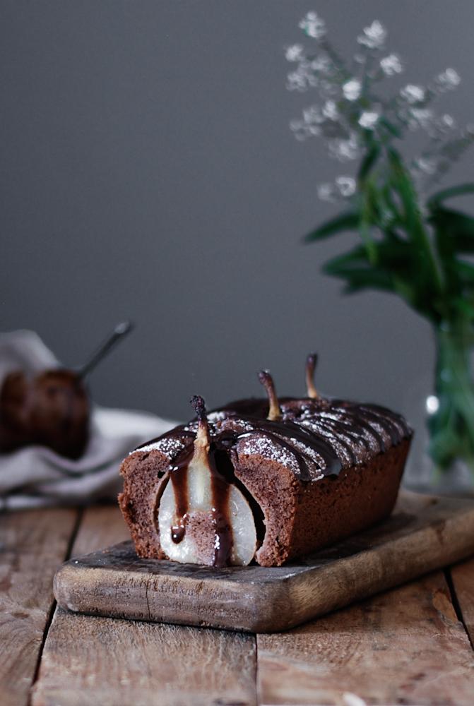 chocolate-pear-bread-cake-bizcocho-chocolate-pera-confitada-dulces-bocados