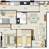 Contoh Denah rumah dan Gambar Rumah minimalis type rumah 70