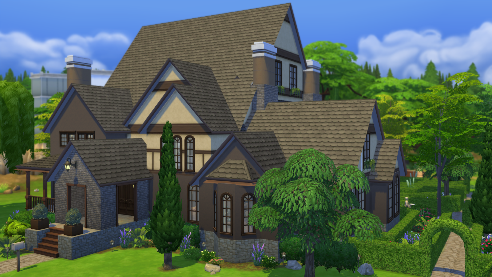Bill 39 s sims creations the sims 4 creators camp from a for Sims 4 exterior design