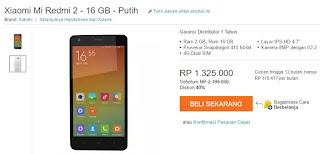 Harga Xiaomi Redmi 2 LTE Android Murah 16 GB Rp 1 Jutaan