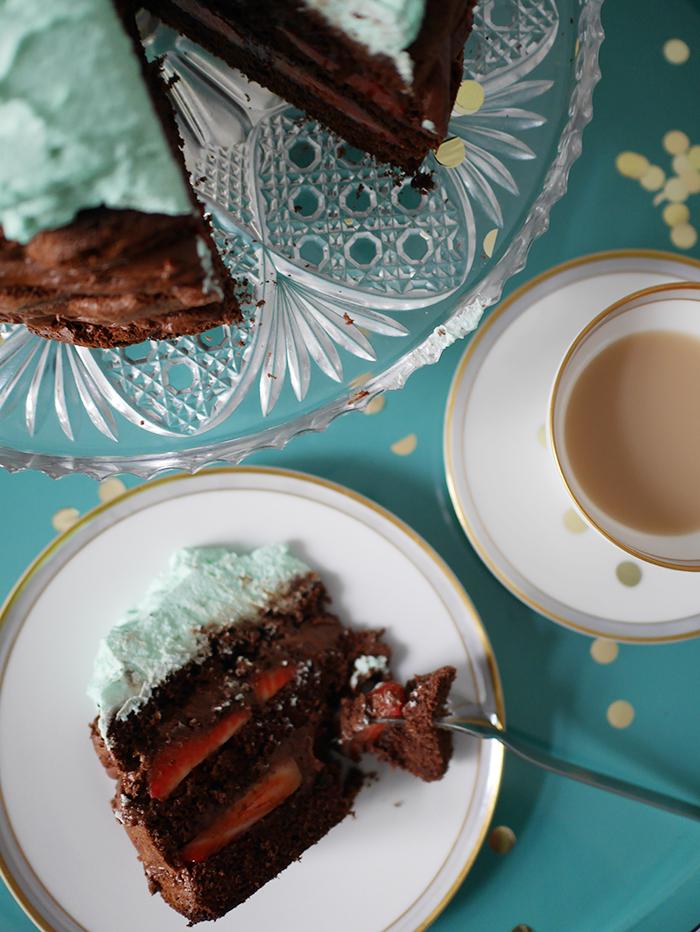 Schokoladen Pfefferminz Torte