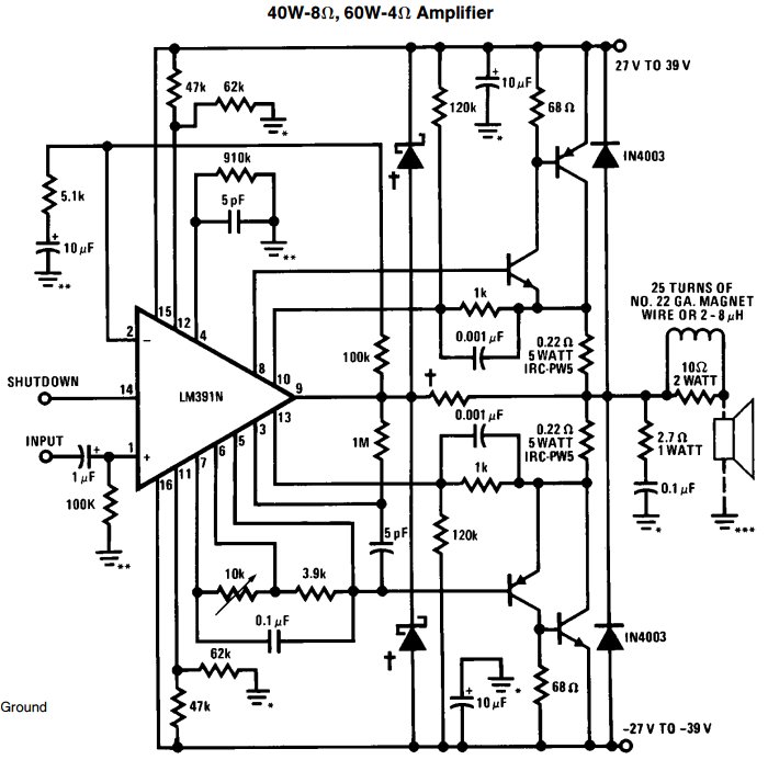 Schematic Diagram Of 100 Watts Amplifier