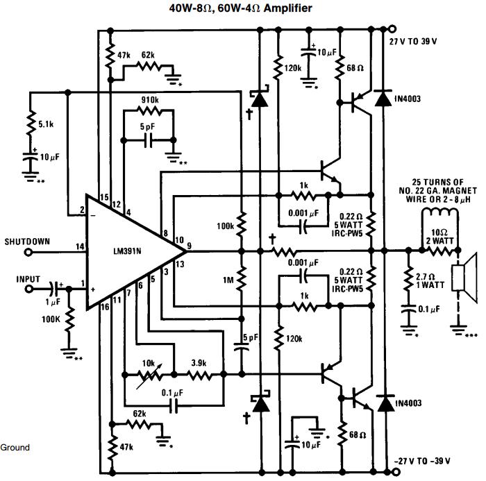 Schematic Diagram Of 100 Watts Amplifier